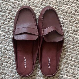 Old Navy Faux-Leather Moccasin Mules